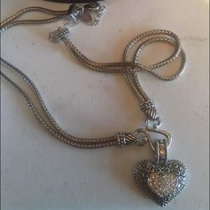 Lia Sophia silver heart necklace